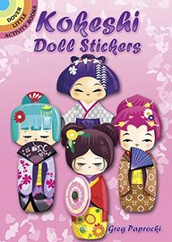 Kokeshi Doll Stickers (Dover Little Activity Books Stickers)