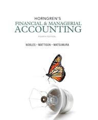 Horngren's Financial & Managerial Accounting (4th Edition)