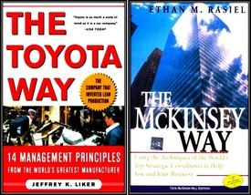 The Toyota Way & The McKinsey Way: (Set of 2 Books)