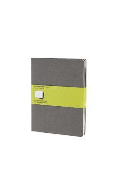 Molesjine Legendary Notebooks Set Of 3 Plain Journals & Cahiers Blancs