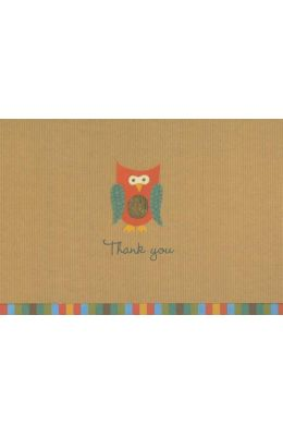 Owl Thank You Notes [With 15 Envelopes]
