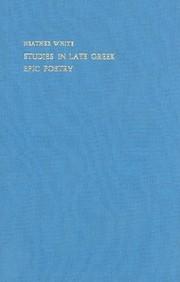 Studies In Late Greek Epic Poetry (London Studies In Classical Philology)