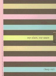 Striped Locking Journal: My Place, My Space (Notebook) (2ND GEN LOCK!)