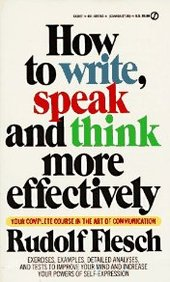 How To Write, Speak, And Think More Effectively