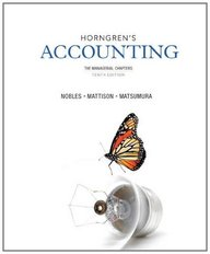 Horngren's Accounting, The Managerial Chapters (10th Edition)