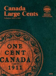 Large Cent Canadian Folder 1858-1920 (Official Whitman Coin Folder)