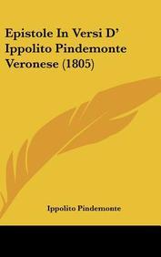 Epistole in Versi D' Ippolito Pindemonte Veronese (1805)
