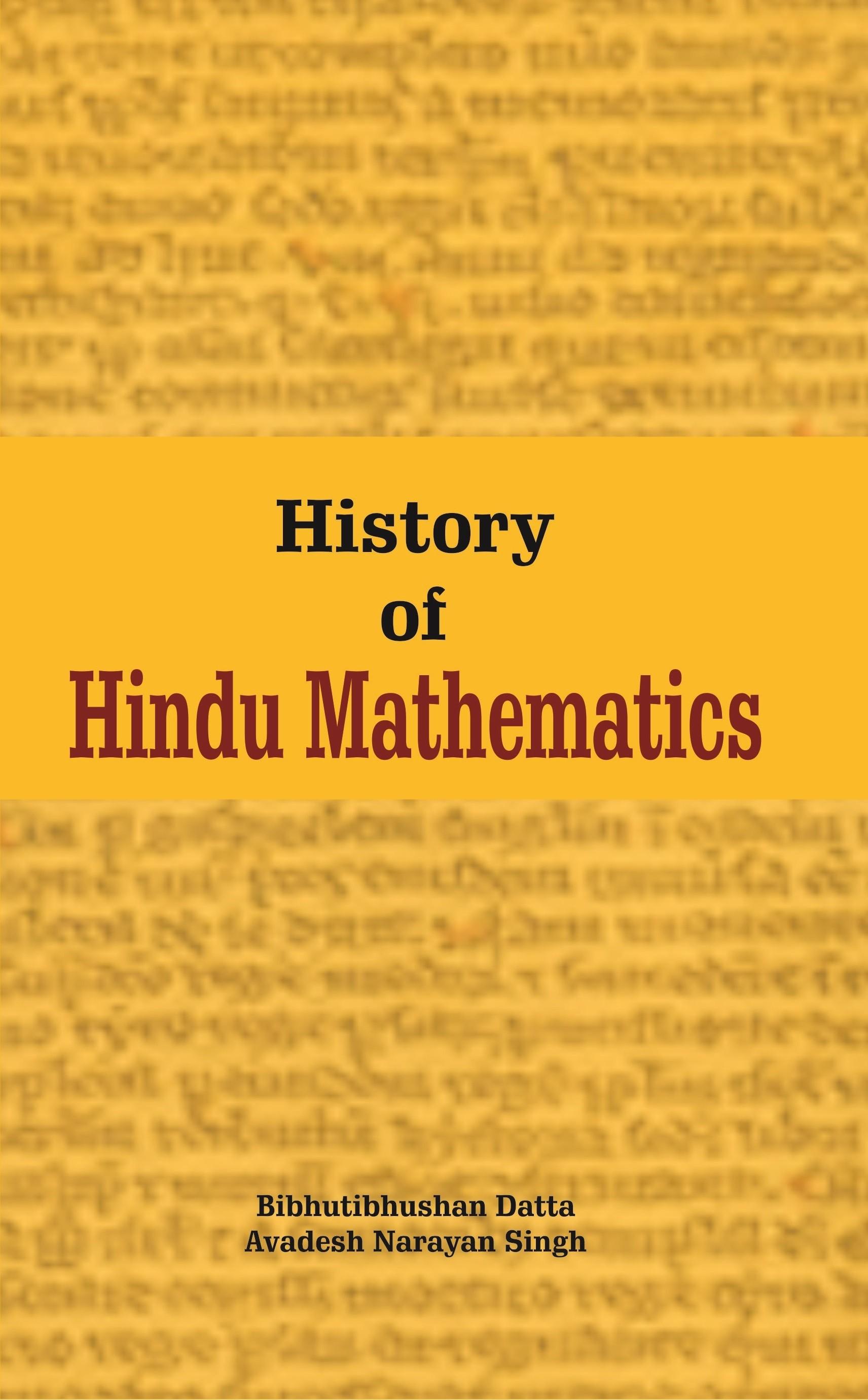 History Of Hindu Mathematics( 2 Vol. Set)