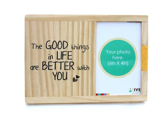 Good things - wooden photo frame