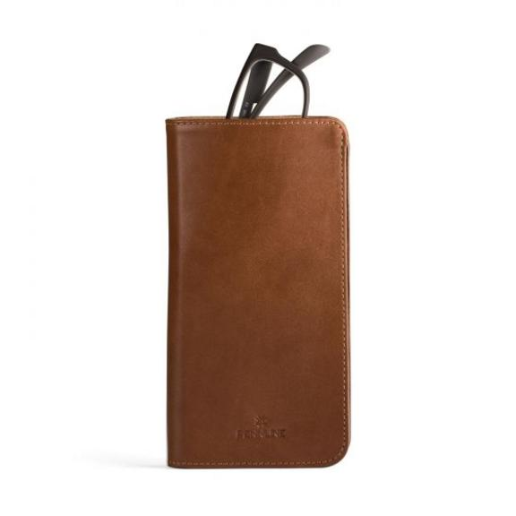 Pennline Leather Spectacle Case - Brown