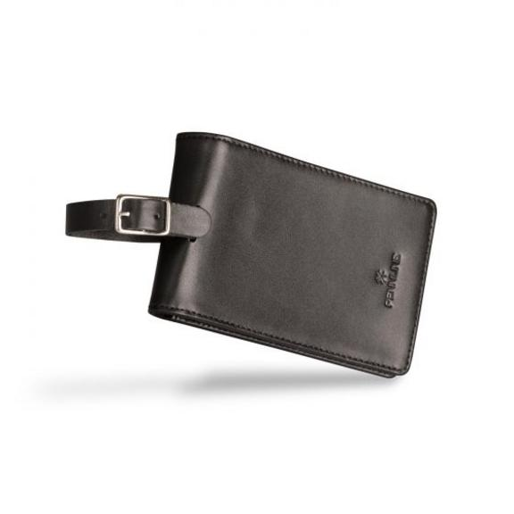 Pennline Leather Luggage Tag - Black