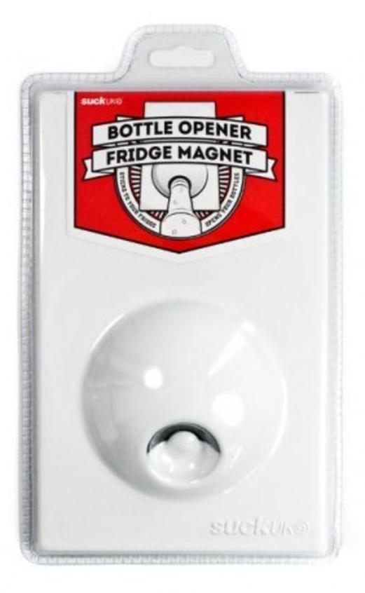Suck Up White Fridge Bottel Opener