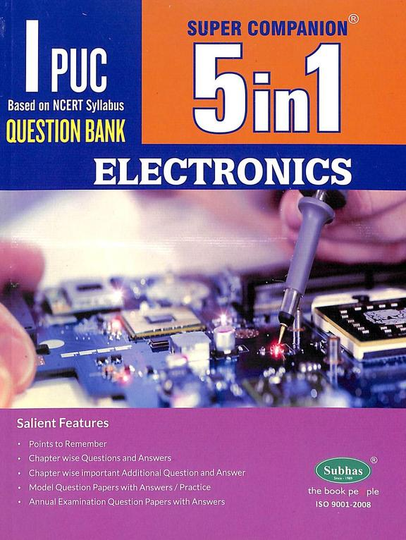 Electronics 1 Puc Question Bank Super Companion 5 In 1