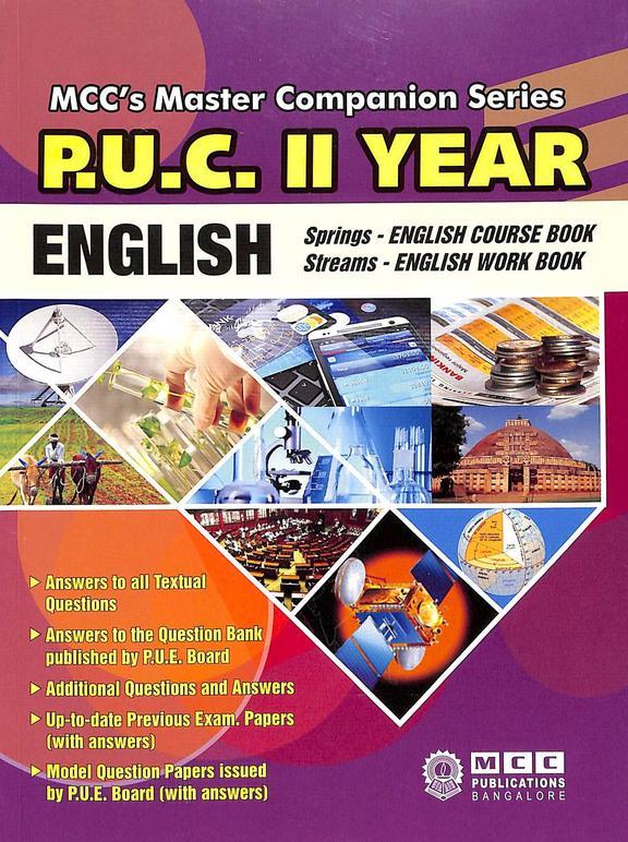 English 2nd Puc Springs English Course Book Streams English Work Book :  Mccs Master Companion Serie