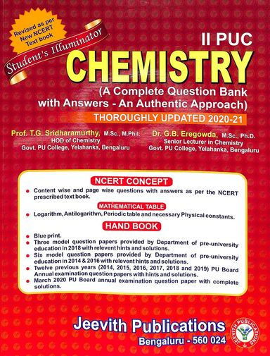 Chemistry2 Puc Students Illuminator Complete Question Bank With Answers An Authentic Approach