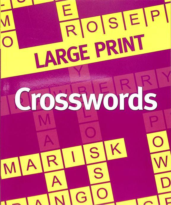Large Print Cross Words