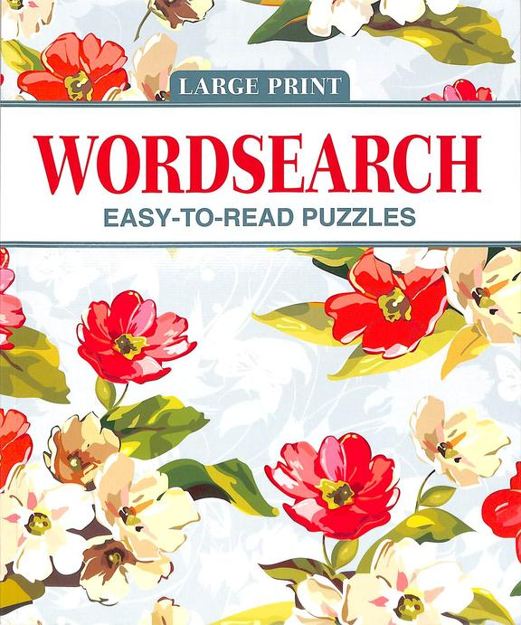 Large Print Wordsearch : Easy To Read Puzzles Red