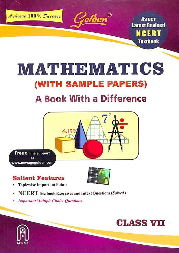 Golden Mathematics Class  7  With Sample Papers : Cbse