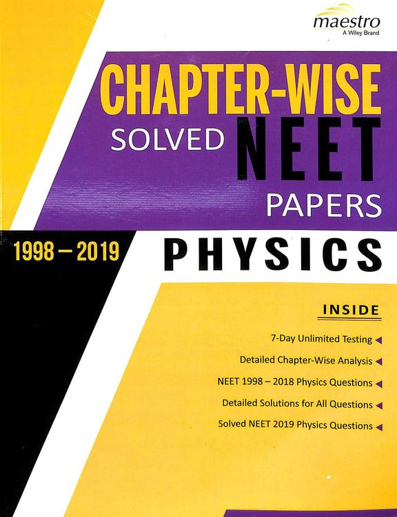 Physics Chapter Wise Neet Solved Papers 1998-2019