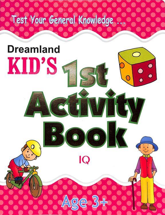 Kids  1st  Activity  Book  Iq   Age 3+