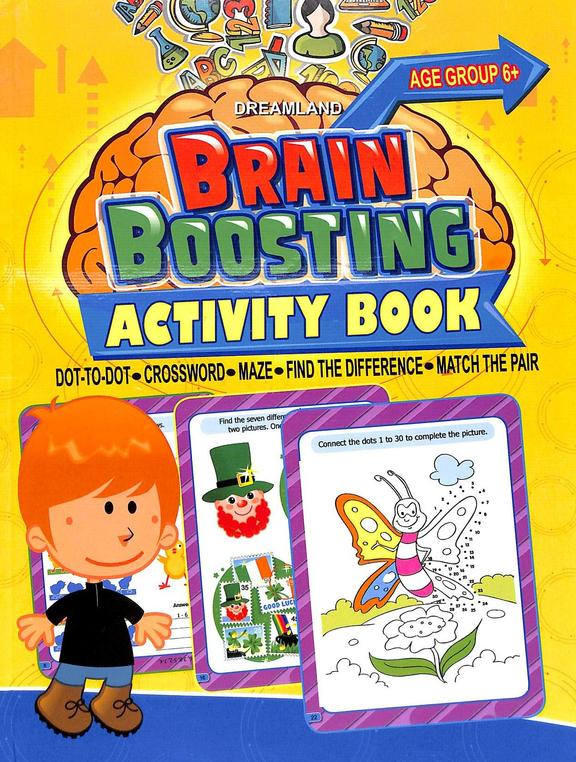 Brain  Boosting  Activity  Book   Ages  6+