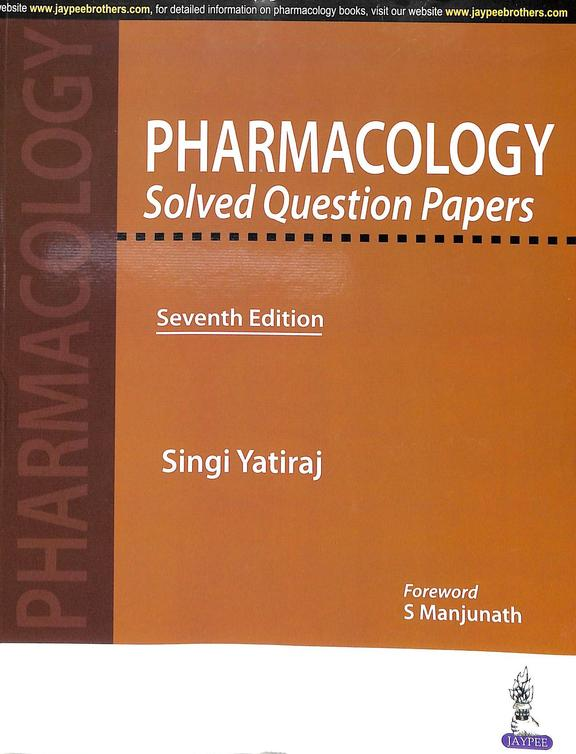 Pharmacology Solved Question Papers