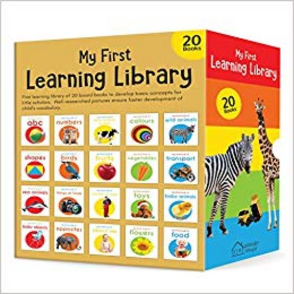 My First Learning Library : Set Of 20 Board Books