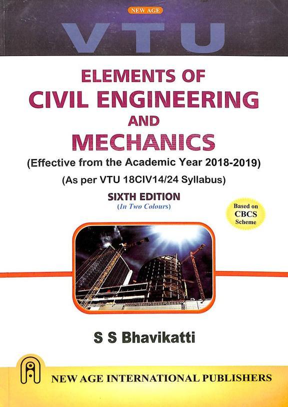 Elements Of Civil Engineering & Mechanics  : Vtu