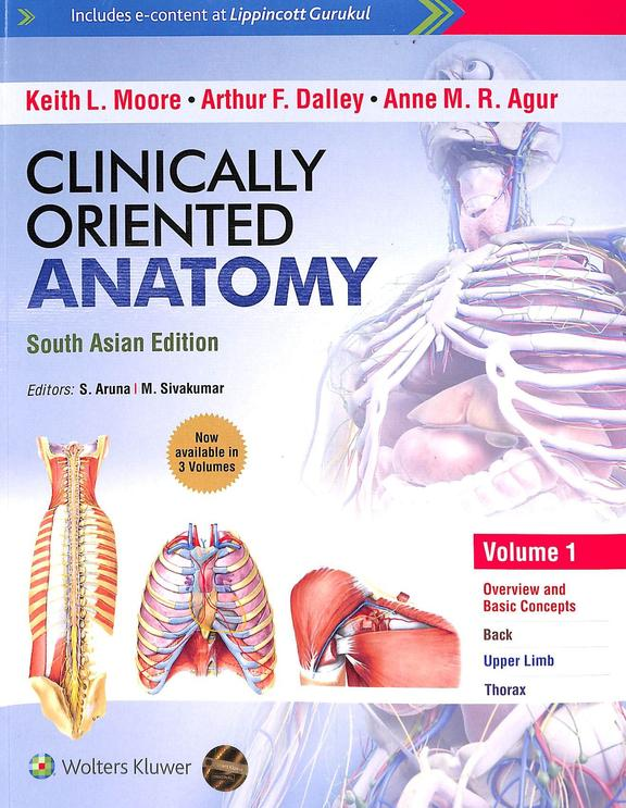 Clinically Oriented Anatomy : South Asian Ed Set Of 3 Vol