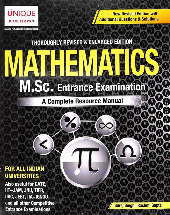 Mathematics Msc Entrance Examination : A Complete Resource Manual