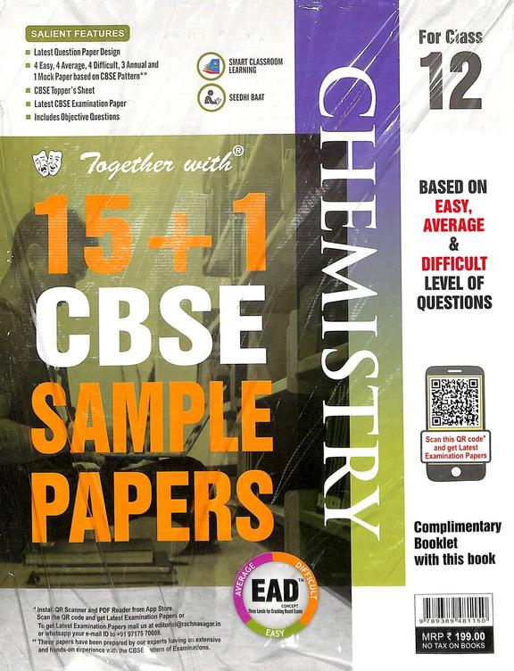 Ead Chemistry Class 12 For 15+1 Cbse Sample Papers