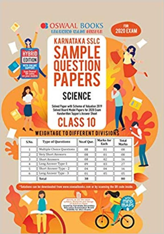 Karnataka Sslc Sample Question Papers Science Class 10 For 2020 Exam